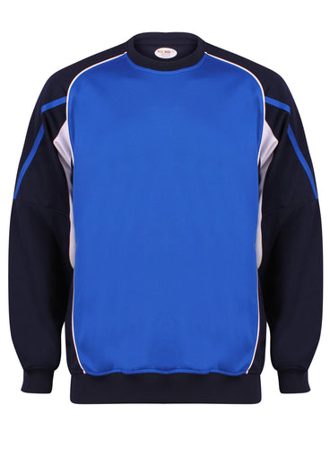 Teamstar Sweatshirt Kids Gazelle Sports UK Yes XSB Col A) Navy/ Royal/ White