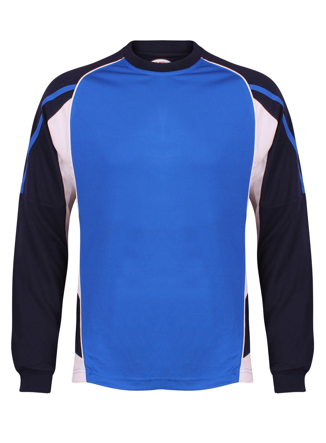 Teamstar Long Sleeve Crew Kids Gazelle Sports UK Yes SB Col A) Royal Blue/ Navy/ White