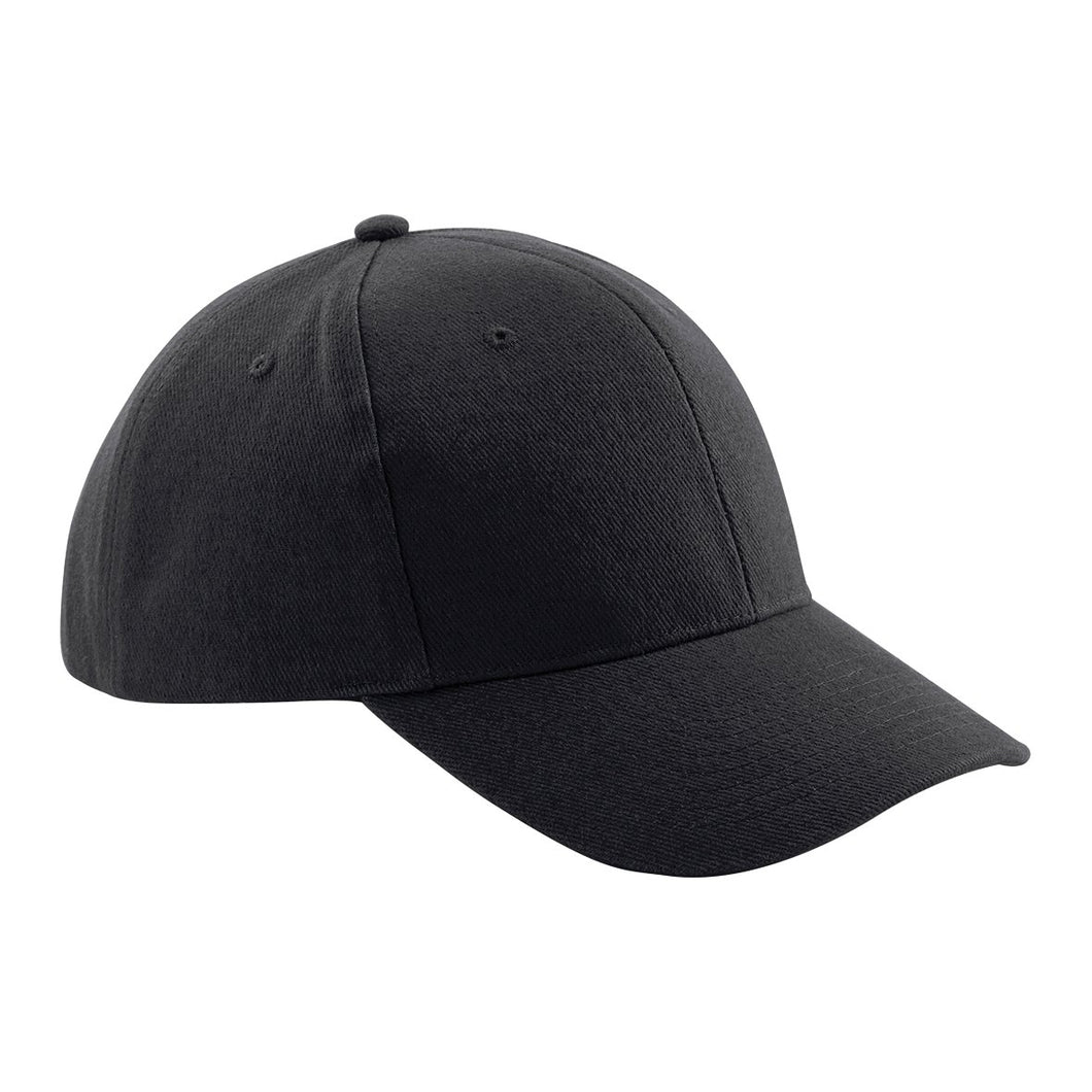 Pro style heavy brushed Cotton Baseball Cap BC065 Gazelle Sports UK Yes (Minimum 20) Black