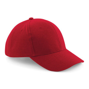 Pro style heavy brushed Cotton Baseball Cap BC065 Gazelle Sports UK Yes (Minimum 20) Red