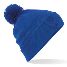 Load image into Gallery viewer, Pom Pom Beanie by Beechfield BC426 Gazelle Sports UK Yes (minimum 10) Royal