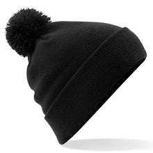 Load image into Gallery viewer, Pom Pom Beanie by Beechfield BC426 Gazelle Sports UK Yes (minimum 10) Black