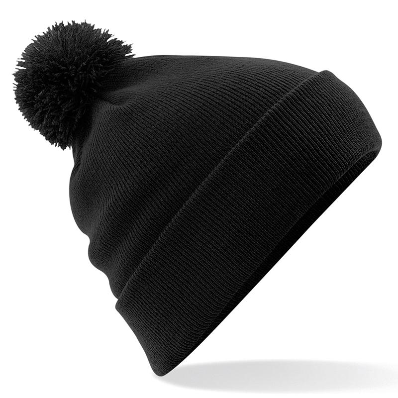 Pom Pom Beanie by Beechfield BC426 Gazelle Sports UK Yes (minimum 10) Black