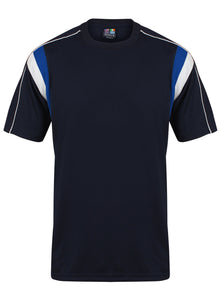 Striker Crew sports top Gazelle Sports UK Yes XS Col B) Navy/ Royal Blue/ White