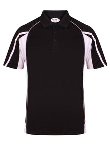 Teamstar Polo Kids Gazelle Sports UK Yes Col D) Black/ Dove Grey/ White XSB