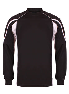 Teamstar Long Sleeve Crew Kids Gazelle Sports UK Yes SB Col D) Black/ Dove Grey/ White