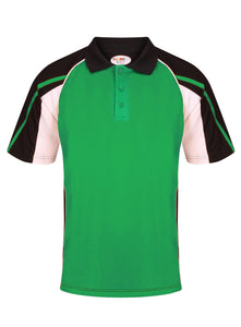 Teamstar Polo Kids Gazelle Sports UK Yes Col E) Black/ Emerald/ White XSB