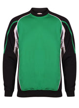 Load image into Gallery viewer, Teamstar Sweatshirt Gazelle Sports UK Yes XS Col E) Black/ Emerald/ White