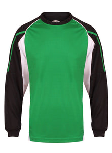 Teamstar Long Sleeve Crew Kids Gazelle Sports UK Yes SB Col E) Black/ Emerald/ White