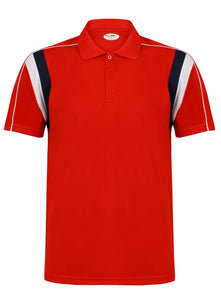 Striker Polo Kids Gazelle Sports UK Yes XSB Col E) Red/ Navy/ White