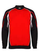 Load image into Gallery viewer, Teamstar Sweatshirt Gazelle Sports UK Yes XS Col F) Black/ Red/ White
