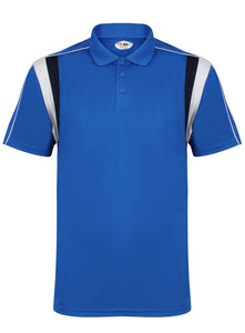 Striker Polo Gazelle Sports UK Yes XS Col F) Royal Blue/ Navy/ White