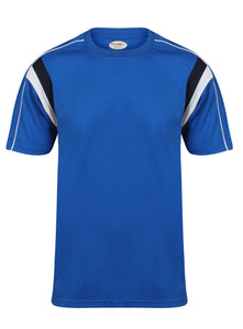 Striker Crew sports top Gazelle Sports UK Yes XS Col F) Royal Blue/ Navy/ White