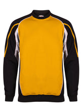 Load image into Gallery viewer, Teamstar Sweatshirt Gazelle Sports UK Yes XS Col G) Black/ Amber/ White