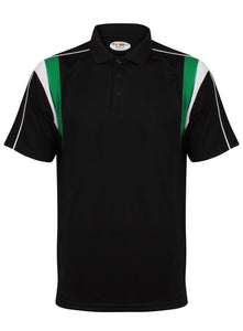 Striker Polo Kids Gazelle Sports UK Yes XSB Col G) Black/ Emerald/ White