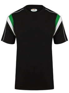 Striker Crew sports top Gazelle Sports UK Yes XS Col G) Black/ Emerald/ White