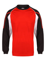 Load image into Gallery viewer, Teamstar Long Sleeve Crew Gazelle Sports UK Yes XS Col G) Black/ Red/ White