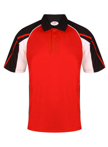 Teamstar Polo Kids Gazelle Sports UK Yes Col G) Black/ Red/ White XSB