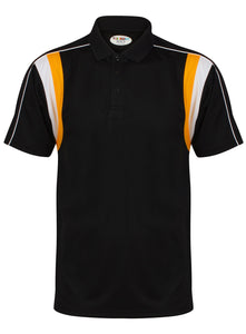 Striker Polo Kids Gazelle Sports UK Yes XSB Col H) Black/ Amber/ White