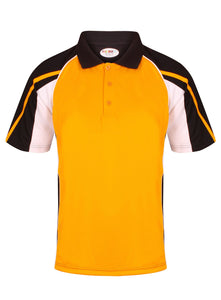 Teamstar Polo Kids Gazelle Sports UK Yes Col H) Black/ Amber/ White XSB