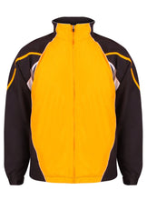 Load image into Gallery viewer, Kids Teamstar Track Jacket Gazelle Sports UK Yes XSB Col I) Black / Amber / White