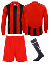 Load image into Gallery viewer, Adults Italia Football Kit Gazelle Sports UK Yes XS Col B) Red/ Black/ White