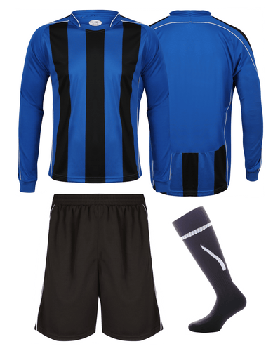 Adults Italia Football Kit Gazelle Sports UK Yes XS Col A) Royal Blue/ Black/ White
