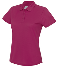Load image into Gallery viewer, Womens Just Cool Polo JC045 Gazelle Sports UK XS/8 Hot Pink Yes