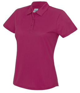 Womens Just Cool Polo JC045 Gazelle Sports UK XS/8 Hot Pink Yes