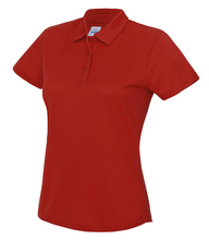 Load image into Gallery viewer, Womens Just Cool Polo JC045 Gazelle Sports UK XS/8 Red Yes
