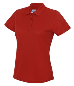 Womens Just Cool Polo JC045 Gazelle Sports UK XS/8 Red Yes