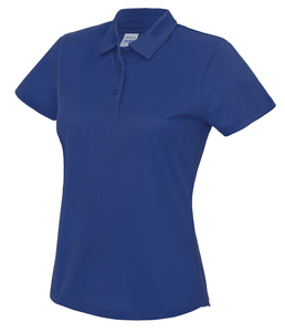 Womens Just Cool Polo JC045 Gazelle Sports UK XS/8 Royal Yes