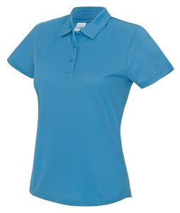 Womens Just Cool Polo JC045 Gazelle Sports UK XS/8 Saphire Yes