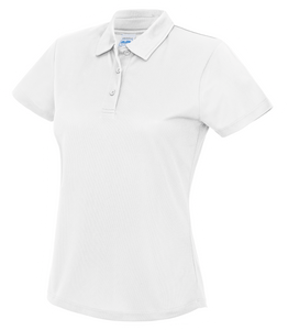 Womens Just Cool Polo JC045 Gazelle Sports UK XS/8 White Yes