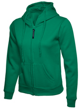 Load image into Gallery viewer, Womens Uneek Zip Up Hoody UC505 Sweatshirts / Hoodies Gazelle Sports UK XS/8 Green Yes