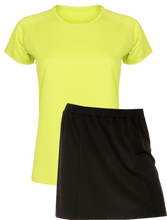 Load image into Gallery viewer, Ladies Netball / Hockey / Rounders Team Kits Gazelle Sports UK XS/8 LIME/BLACK YES