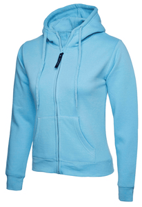 Womens Uneek Zip Up Hoody UC505 Sweatshirts / Hoodies Gazelle Sports UK