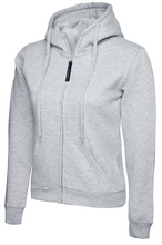 Load image into Gallery viewer, Womens Uneek Zip Up Hoody UC505 Sweatshirts / Hoodies Gazelle Sports UK XS/8 Heather Grey Yes