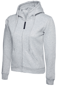 Womens Uneek Zip Up Hoody UC505 Sweatshirts / Hoodies Gazelle Sports UK XS/8 Heather Grey Yes