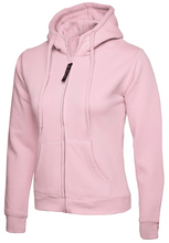 Load image into Gallery viewer, Womens Uneek Zip Up Hoody UC505 Sweatshirts / Hoodies Gazelle Sports UK XS/8 Pink Yes