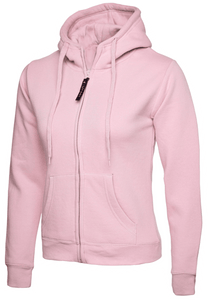 Womens Uneek Zip Up Hoody UC505 Sweatshirts / Hoodies Gazelle Sports UK XS/8 Pink Yes