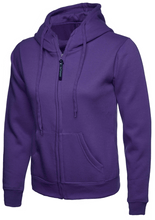 Load image into Gallery viewer, Womens Uneek Zip Up Hoody UC505 Sweatshirts / Hoodies Gazelle Sports UK XS/8 Purple Yes