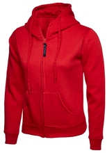 Load image into Gallery viewer, Womens Uneek Zip Up Hoody UC505 Sweatshirts / Hoodies Gazelle Sports UK XS/8 Red Yes