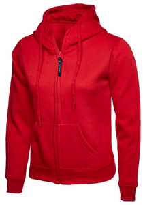 Womens Uneek Zip Up Hoody UC505 Sweatshirts / Hoodies Gazelle Sports UK XS/8 Red Yes