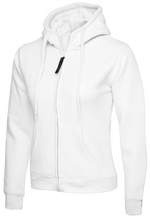 Load image into Gallery viewer, Womens Uneek Zip Up Hoody UC505 Sweatshirts / Hoodies Gazelle Sports UK XS/8 White Yes