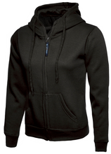 Load image into Gallery viewer, Womens Uneek Zip Up Hoody UC505 Sweatshirts / Hoodies Gazelle Sports UK XS/8 Black Yes