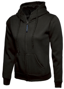 Womens Uneek Zip Up Hoody UC505 Sweatshirts / Hoodies Gazelle Sports UK XS/8 Black Yes