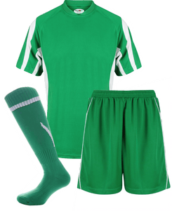 Adults Rio Kits Gazelle Sports UK XS Green/White No