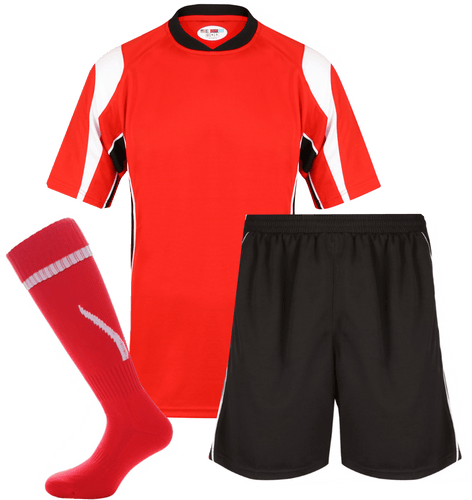 Adults Rio Kits Gazelle Sports UK XS Red/Black No