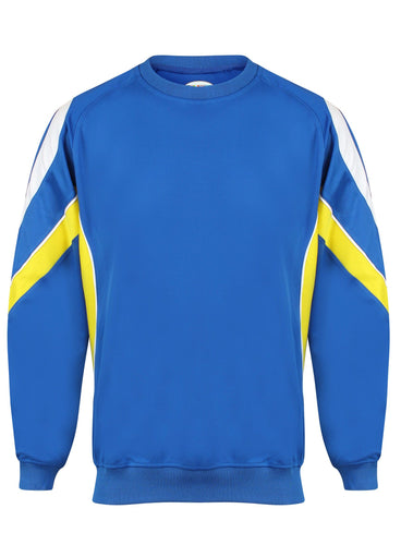 Rio Sweatshirt Gazelle Sports UK Yes XS Col A) Royal/ Yellow/ White